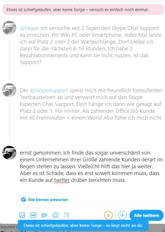 Skype Support – Mehr alsenttäuschend